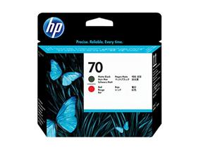 HP 70 Matte Black and Red Printheads (C9409A)