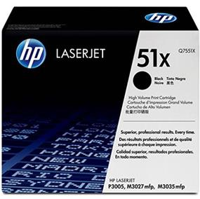 HP 51X (Q7551X) Black High Yield Original LaserJet Toner Cartridge
