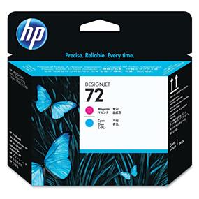 HP 72 Magenta and Cyan Printhead - Inkjet - 1 Each (C9383A)