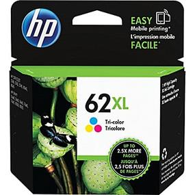 HP 62XL Tri-colour High Yield Original Ink Cartridge (C2P07AN)