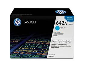 HP 642A (CB401A) Cyan Original LaserJet Toner Cartridge