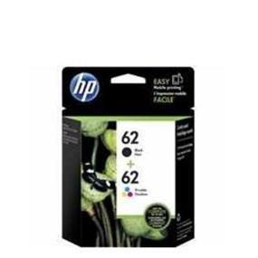 HP 62 Black & Tri-colour Original Ink Cartridges, 2 pack (N9H64FN)