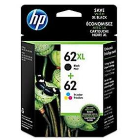 HP 62 Black & Tri-colour Original Ink Cartridges, 2 pack (N9H64FN)