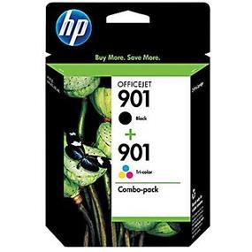 HP 901 Black & Tri-colour Original Ink Cartridges, 2 pack (CN069FN)