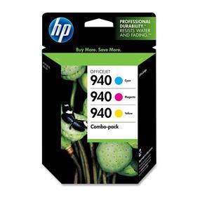 HP 940 Cyan, Magenta & Yellow Original Ink Cartridges, 3 pack (CN065FN)