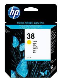HP 38 Yellow Pigment Original Ink Cartridge(C9417A)