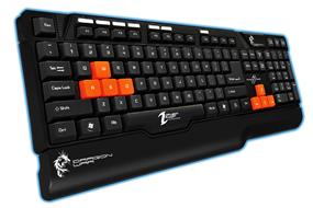 Dragon War  Dragon Recon Multimedia Gaming Keyboard with Extra Keycaps (GK-003 Black)