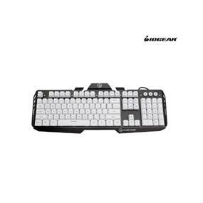 IOGEAR Kaliber Gaming HVER Aluminum Gaming Keyboard – Imperial White (GKB704L-WT)
