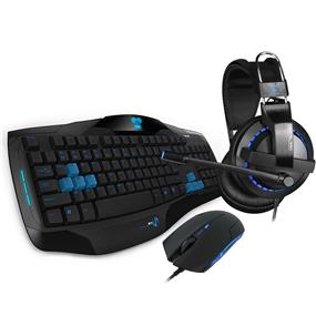 E-Blue Cobra Gaming Keyboard, Headset and Mouse Combo in a unique gift box, 3-in-1 EHM828 Gaming Combo Set