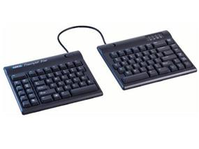 Kinesis Freestyle2 Keyboard for PC, Multichannel Bluetooth, US English Legending, Black, 9 inch maximum separation (KB800PB-BT)