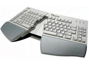 Kinesis Maxim Split Adjustable Keyboard for PC, US English Legending, Beige (KB210USB)