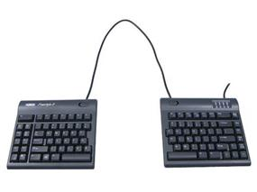 Kinesis Freestyle2 Convertible Keyboard for MAC, 20 Separation, English, Black (KB800HMB-US-20)