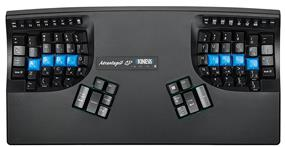 Kinesis Advantage2 Contoured Keyboard for PC/Mac - QWERTY-DVORAK Dual Legended, Black, USB (KB600QD)