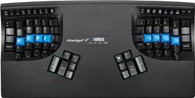 Kinesis Advantage2 Contoured Linear Force Keyboard for PC/Mac, Black, USB (KB600LF)