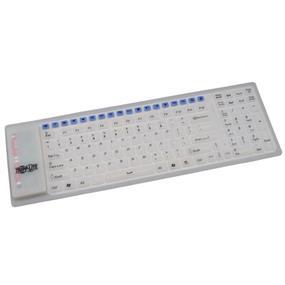 Tripp Lite Wireless Multimedia Flexible Keyboard - Wireless - RF - USB - Opaque white