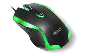 Delux Cool Lighting Professional Gaming Mouse 2400 dpi (M556 Green)