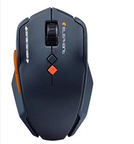 Elephant ELE-M521 2.4G Silent Wheel Wireless Mouse (Grey)