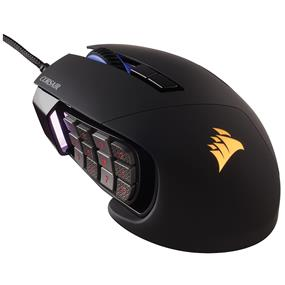 Corsair SCIMITAR PRO RGB Gaming Mouse, Backlit RGB LED, 16000 DPI, Black side panel, Optical (CH-9304111-NA)