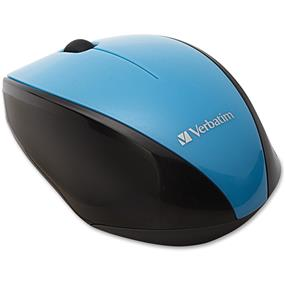 Verbatim Wireless Multi-Trac Blue LED Optical Mouse - Blue - Blue Optical - Wireless - Radio Frequency - Black - USB 2.0 - Scroll Wheel - 2 Button(s) (97993)