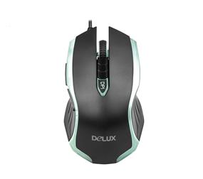 Delux 4-Color Cool Lighting Gaming Mouse 800/1200/2000/3200dpi (M556BU Black)