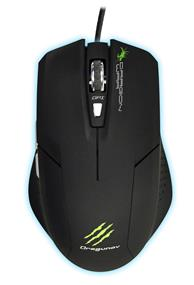 Dragon War ELE-G3 Dragunov Gaming Laser Mouse with Mouse Pad, Black