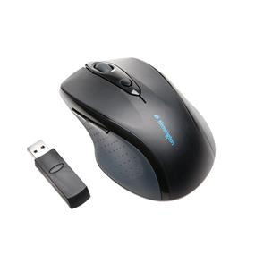 Kensington Pro Fit Wireless Full-Size Mouse - Optical - Wireless - Radio Frequency - Black - Retail - USB - 1200 dpi - Scroll Wheel - Right-handed Only (72370)