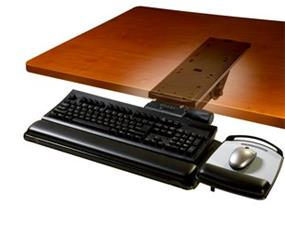 "3M AKT151LE Adjustable Keyboard Tray - 11.7"" x 24.4"" x 7.2"" - Black"