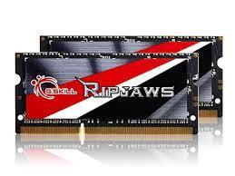 G.SKILL Ripjaws Series 16GB (2x8GB) DDR3 1600MHz CL9 SODIMM Daul Channel  Memory Kit 1.35V (F3-1600C9D-16GRSL)