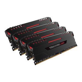 Corsair Vengeance LED 32GB (4X8GB)  DDR4 3466MHZ C16 1.35V Memory - Black With Red LED(CMU32GX4M4C3466C16R)