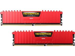 Corsair Vengeance LPX  32GB 2X16GB DDR4 2666MHZ C16R 1.2V DIMM Red(CMK32GX4M2A2666C16R)