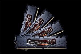G.SKILL Flare X Series 32GB (4x8GB) DDR4 2400MHz CL16 Quad Channel Memory Kit 1.2V (F4-2400C16Q-32GFX)
