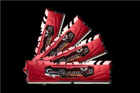 G.SKILL Flare X Series 64GB (4x16GB) DDR4 2400MHz CL16 Quad Channel Memory Kit 1.2V (F4-2400C16Q-64GFXR)