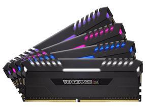 Corsair Vengeance RGB 32GB (4 x 8GB) DDR4 3000 MHz CL15 Quad Channel Memory Kit 1.35V (CMR32GX4M4C3000C15)