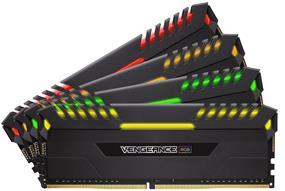 Corsair Vengeance RGB 64GB (4 x 16GB) DDR4 2666 MHz CL16 Dual Channel Memory Kit 1.20V (CMR64GX4M4A2666C16)