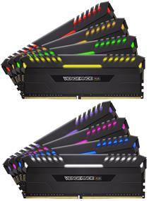 Corsair Vengeance RGB 64GB (8 x 8GB) DDR4 2666 MHz CL16 Dual Channel Memory Kit 1.35V (CMR64GX4M8A2666C16)