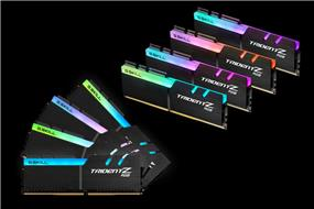 G.SKILL Trident Z RGB Series 64GB(8x 8GB) 2400 MHz C15 Quad Channel Memory Kit 1.2V (F4-2400C15Q2-64GTZR)