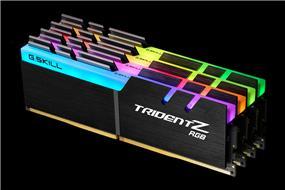G.SKILL Trident Z RGB Series 64GB(4x 16GB) 3000 MHz C14 Quad Channel Memory Kit 1.35V (F4-3000C14Q-64GTZR)