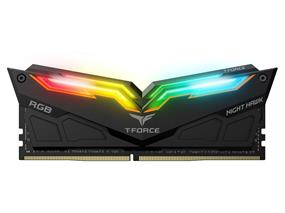 Team Night Hawk RGB 16GB(2x 8GB) 3000 MHz C16 Dual Channel Memory Kit 1.35V Black (TF1D416G3000HC16CDC01)