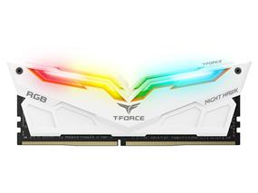 Team Night Hawk RGB 16GB(2x 8GB) 3000 MHz C16 Dual Channel Memory Kit 1.35V White (TF2D416G3000HC16CDC01)