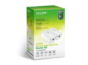 TP-Link (TL-PA4010P KIT) AV500 Powerline Adapter with AC Pass Through Starter Kit (TL-PA4010P KIT)