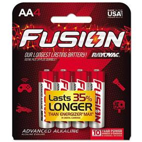Rayovac 815-4TFUS Alkaline Fusion AA 4-Pack Carded