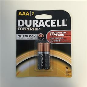 Duracell MN2400 Duralock  Batteries(AAA) - 2 Pack Count