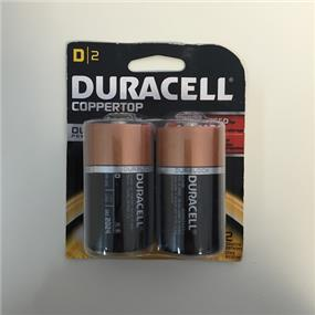 Duracell MN1300 Duralock  Batteries, D Size - 2 Pack Count