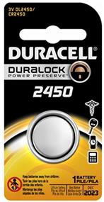 Duracell 3V 2450 Coin Lithium  Battery