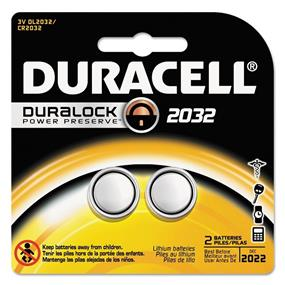 Duracell 3V 2032 Coin Lithium Batteries - 2 Pack Count