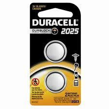 Duracell 3V 2025 Coin Lithium Batteries - 2 Pack count