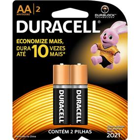 Duracell MN1500 Duralock Batteries(AA) - 2 Pack Count