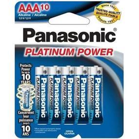 Panasonic Platinum Alkaline AA-10 1.5V (LR6XP10BTR)