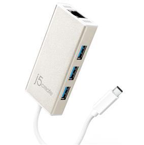J5CREATE JCH471 USB Type-C Gigabit Ethernet & HUB Multi Adapter