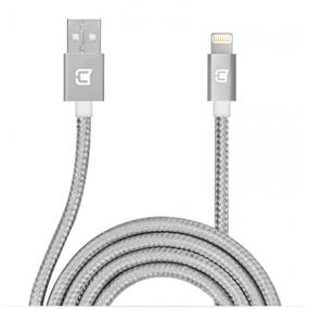 Caseco Apple Certified Nylon Braided Lightning Cable - 1 Meter - Silver